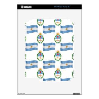 Modelo la Argentina de la bandera y del escudo iPad 2 Skin