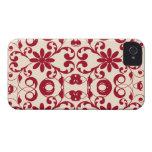 Modelo lamentable del vintage y elegante floral iPhone 4 coberturas