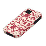 Modelo lamentable del vintage y elegante floral vibe iPhone 4 carcasas