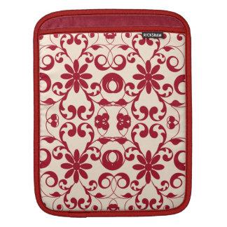 Modelo lamentable del vintage y elegante floral mangas de iPad