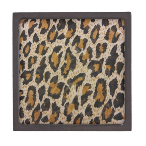 Modelo -- Leopardo Caja De Recuerdo De Calidad