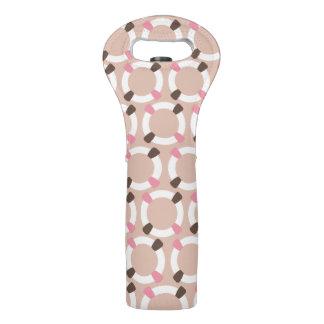 modelo lifebuoy del rosa del estreno de una casa bolsas para botella de vino