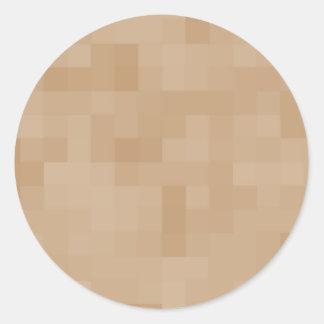 Modelo ligero del extracto del color de Brown del Pegatina Redonda