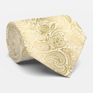 Modelo ligero elegante de Paisley del oro y de la Corbatas Personalizadas