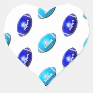 Modelo ligero y azul marino del fútbol pegatina en forma de corazón