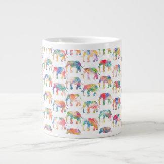 Modelo lindo caprichoso de los elefantes de la acu tazas jumbo
