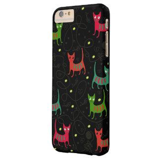 Modelo lindo colorido del hueso de los gatos y de funda de iPhone 6 plus barely there