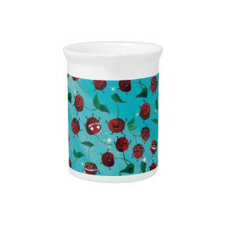 Modelo lindo de la cereza jarras para bebida
