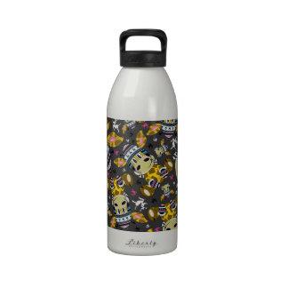 Modelo lindo de la jirafa del dibujo animado botella de beber