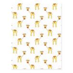 Modelo lindo de la jirafa postales