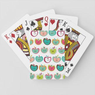 Modelo lindo de la manzana baraja de cartas