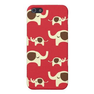 Modelo lindo de la naturaleza del rojo cereza de l iPhone 5 protectores