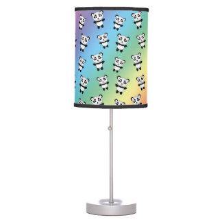Modelo lindo de la panda del arco iris lámpara de mesa