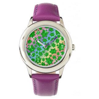 Modelo lindo de la tortuga del arco iris reloj