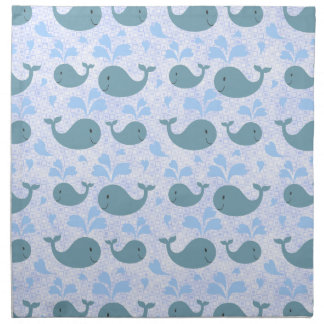 Modelo lindo de las ballenas azules servilleta de papel