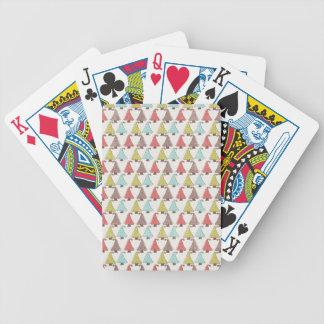 Modelo lindo de los árboles de navidad cartas de juego