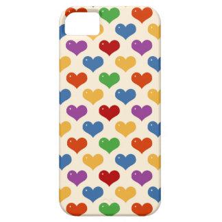 Modelo lindo de los corazones del kawaii femenino iPhone 5 Case-Mate protectores