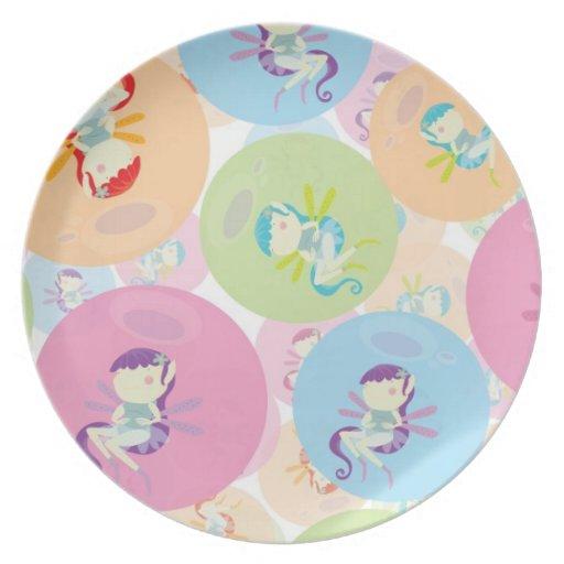 modelo lindo de los duendecillos y de los círculos platos para fiestas