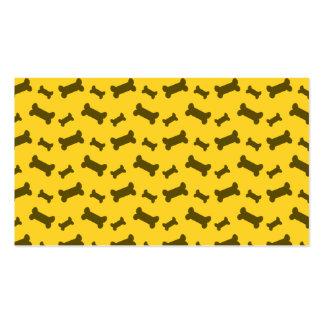 Modelo lindo de los huesos de perro amarillo plantillas de tarjetas de visita