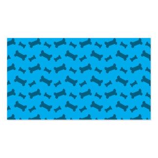 Modelo lindo de los huesos de perro del azul de ci tarjetas de visita