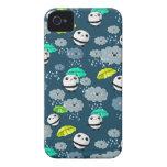 Modelo lindo de los osos de panda iPhone 4 Case-Mate cobertura