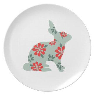 Modelo lindo del arte popular de la silueta del co platos