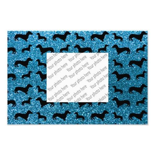 Modelo lindo del brillo del dachshund del azul de  fotografías