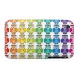 Modelo lindo del búho del arco iris iPhone 3 Case-Mate funda