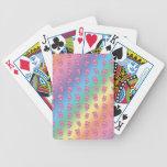 Modelo lindo del cerdo del arco iris barajas de cartas