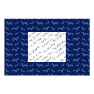 Modelo lindo del dachshund de los azules marinos