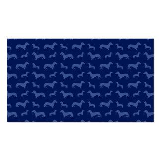Modelo lindo del dachshund de los azules marinos tarjetas de negocios