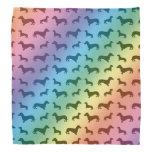 Modelo lindo del dachshund del arco iris