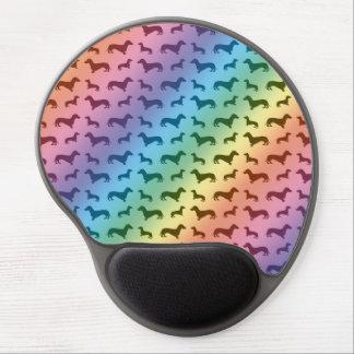 Modelo lindo del dachshund del arco iris alfombrilla para ratón de gel
