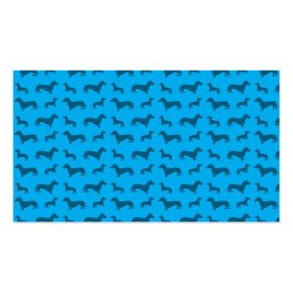 Modelo lindo del dachshund del azul de cielo tarjetas de visita