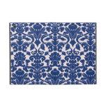 Modelo lindo del damasco de los azules marinos iPad mini protectores