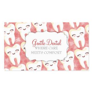 Modelo lindo del diente - tarjetas de visita de en
