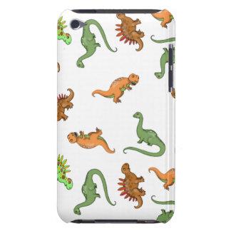 Modelo lindo del dinosaurio iPod Case-Mate cobertura