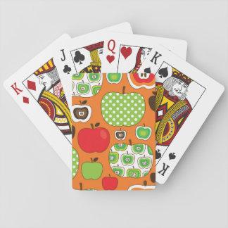 Modelo lindo del ejemplo de la manzana cartas de póquer
