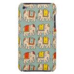 Modelo lindo del elefante de los elefantes del cir iPod touch Case-Mate protectores