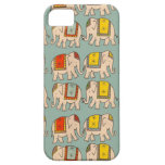 Modelo lindo del elefante de los elefantes del cir iPhone 5 Case-Mate fundas