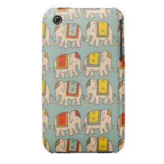 Modelo lindo del elefante de los elefantes del cir iPhone 3 cobreturas