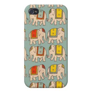 Modelo lindo del elefante de los elefantes del cir iPhone 4 cobertura