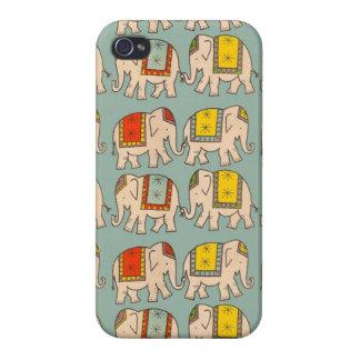 Modelo lindo del elefante de los elefantes del cir iPhone 4 carcasas