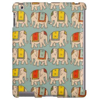 Modelo lindo del elefante de los elefantes del cir funda para iPad