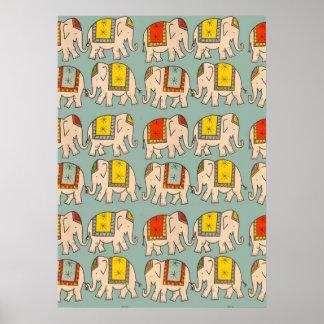 Modelo lindo del elefante de los elefantes del cir impresiones