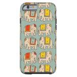 Modelo lindo del elefante de los elefantes del funda de iPhone 6 tough