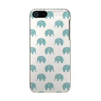 Modelo lindo del elefante del trullo carcasa de iphone 5 incipio feather shine