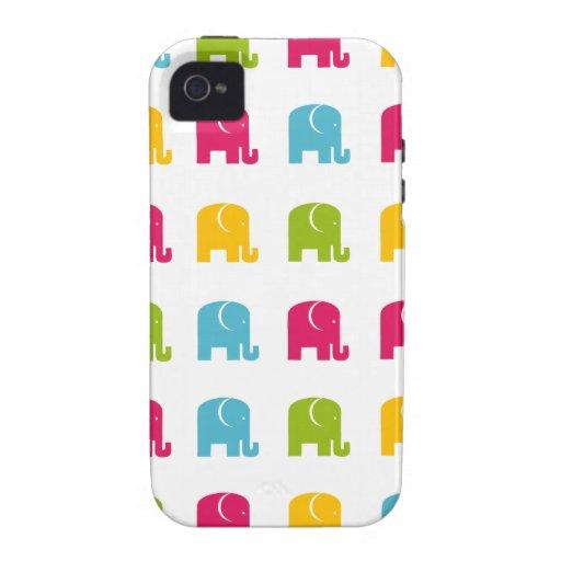 Modelo lindo del elefante iPhone 4/4S carcasas