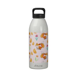 Modelo lindo del Fox de la fruta cítrica Botellas De Agua Reutilizables