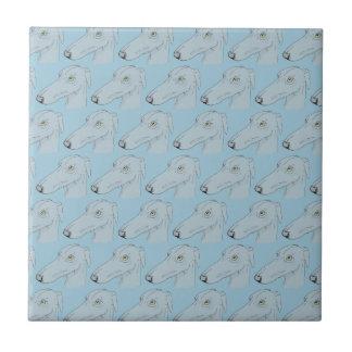 Modelo lindo del galgo azulejo cuadrado pequeño